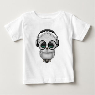 9c76b4d75 Customizable Dj Owl with Headphones and Glasses Baby T-Shirt
