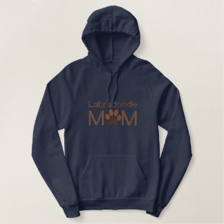 Customizable Dog Breed For Mom Embroidered Hooded Sweatshirt