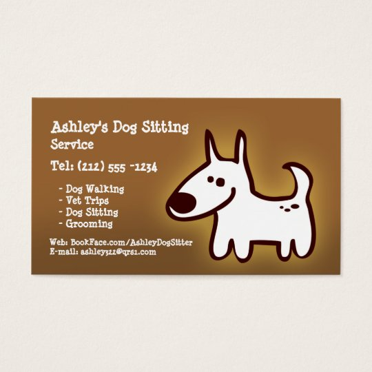 CUSTOMIZABLE dog sitting, grooming, walking Business Card