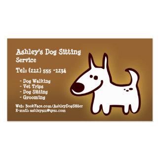 CUSTOMIZABLE dog sitting, grooming, walking Business Card Templates