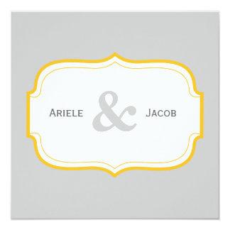 Customizable Double Sided Wedding Invitation