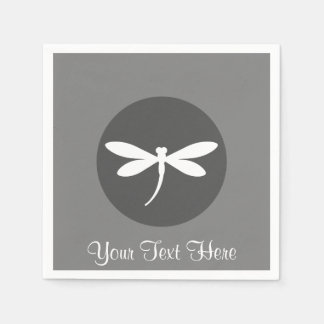 Customizable Dragonfly Napkins Paper Serviettes