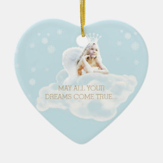 Customizable Dream Angel Heart Ornament