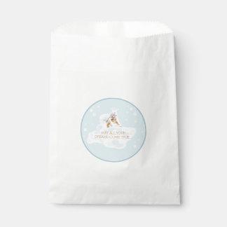 Customizable Dream Angel White Favor Bag