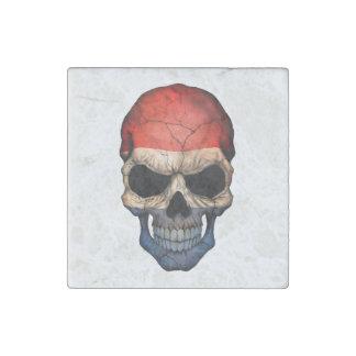 Customizable Dutch Flag Skull Stone Magnet