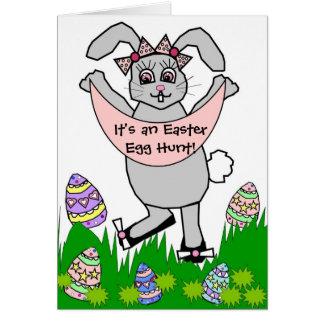 Customizable Easter Egg Hunt Card/Invitation Greeting Card