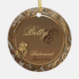 Customizable Elegant Bridesmaid Keepsake Ornament
