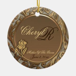 Customizable Elegant Mother Of Groom Keepsake Christmas Ornament