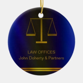Customizable | Elegant Scales of Justice Christmas Ornament