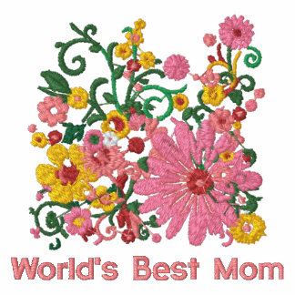 Customizable Embroidered  Word's Best Mom t-shirt