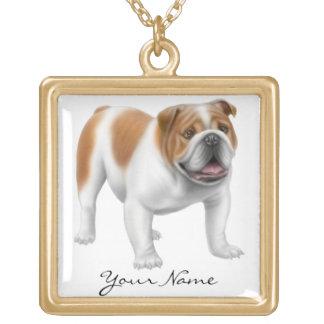 Customizable English Bulldog Necklace