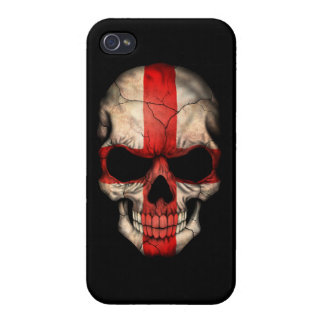 Customizable English Flag Skull iPhone 4/4S Cover