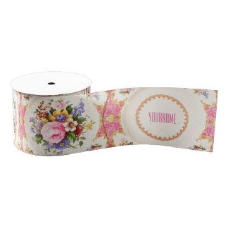 Customizable English Rose Garden Victorian Ribbon Grosgrain Ribbon