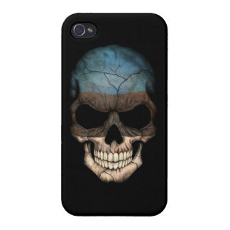 Customizable Estonian Flag Skull Covers For iPhone 4