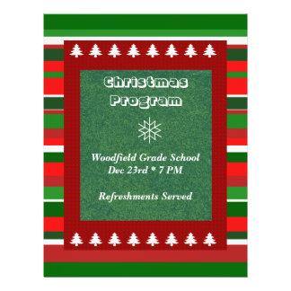Customizable Event Christmas Program Custom Flyer