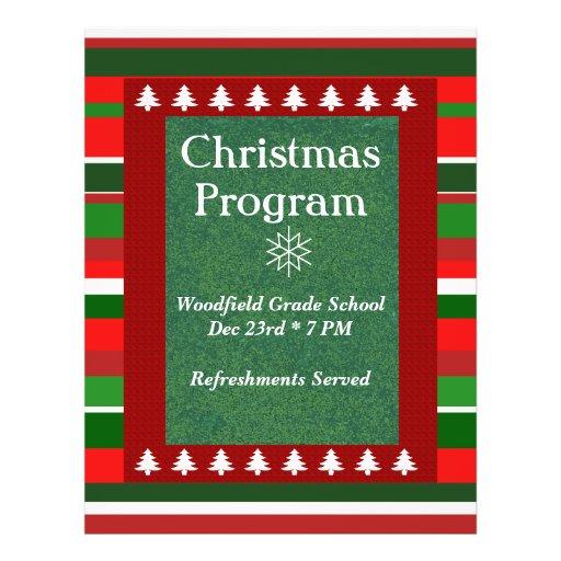 """Customizable Event: Christmas Program"" Personalized Flyer"