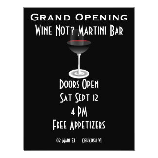 """Customizable Event for Grand Opening 8.5"""" X 11"""" Flyer"""