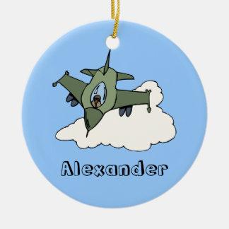 Customizable F16 Fighting Falcon Design Christmas Ornament