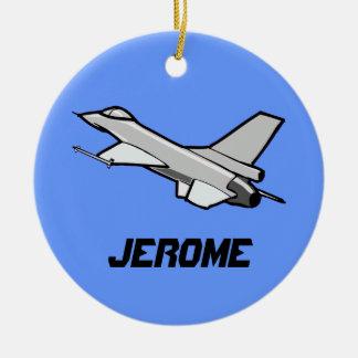 Customizable F16 Fighting Falcon Design Round Ceramic Decoration