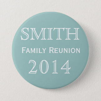 Customizable Family Reunion Blue 7.5 Cm Round Badge