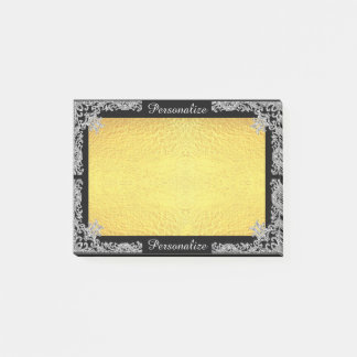 Customizable Faux Glitter and Gold Post-it® Notes
