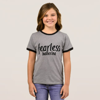 Customizable Fearless Ballerina Ringer T-Shirt