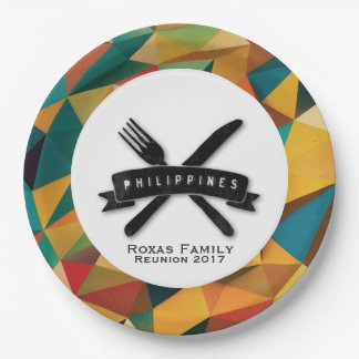 Customizable Fiesta in Philippines 9 Inch Paper Plate