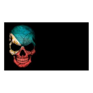 Customizable Filipino Flag Skull Business Cards