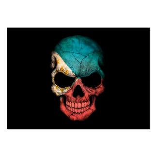 Customizable Filipino Flag Skull Business Card Template
