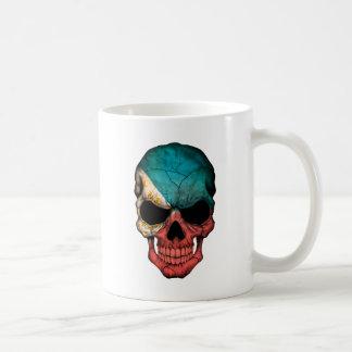Customizable Filipino Flag Skull Coffee Mugs