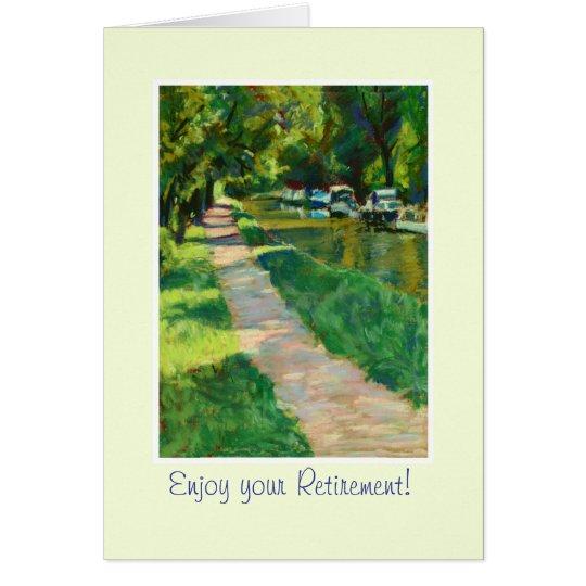 Customizable Fine Art Greeting Card, Canal Towpath Card