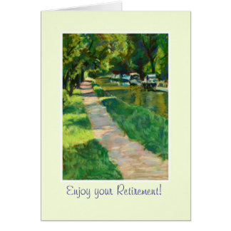 Customizable Fine Art Greeting Card, Canal Towpath Greeting Card