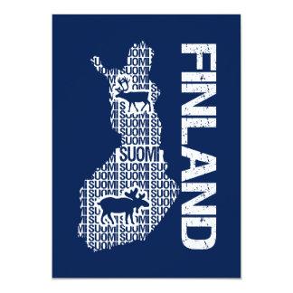 Customizable FINLAND MAP invitation