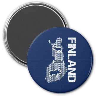 Customizable FINLAND MAP magnet