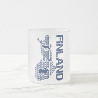 Customizable FINLAND MAP mug - choose style