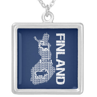 Customizable FINLAND MAP necklace