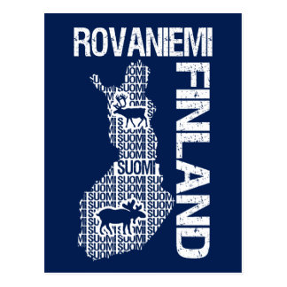 Customizable FINLAND MAP postcard - Rovaniemi