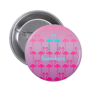Customizable: Flamingo two 6 Cm Round Badge