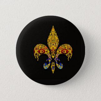 customizable Fleur-de-Lis 6 Cm Round Badge