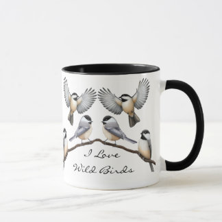 Customizable Flock of Chickadees Mug