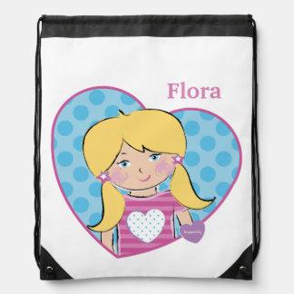 Customizable Flora Drawstring Bag