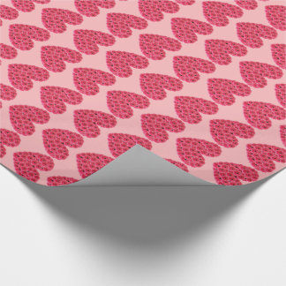 Customizable Floral Hearts Gift Wrapping Paper