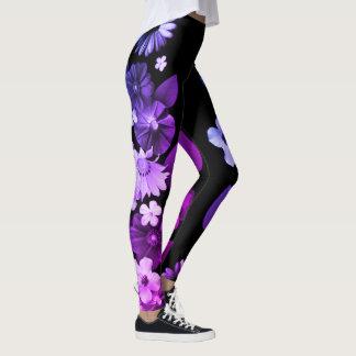 customizable floral side detail leggings