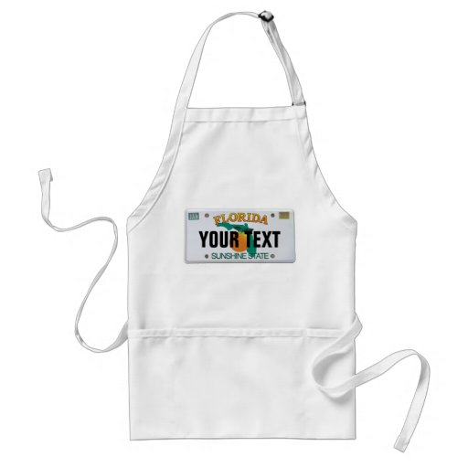 (Customizable) Florida License Plate Apron