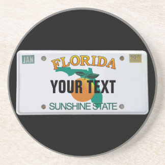 (Customizable) Florida License Plate Coaster