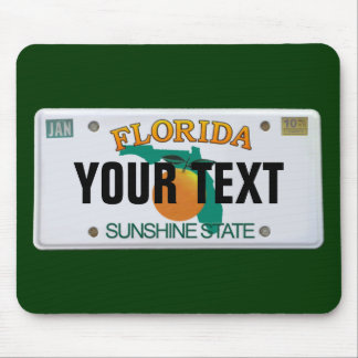 (Customizable) Florida License Plate Mouse Mat