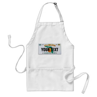 (Customizable) Florida License Plate Standard Apron