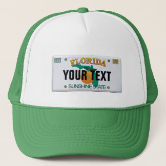 (Customizable) Florida License Plate Trucker Hat