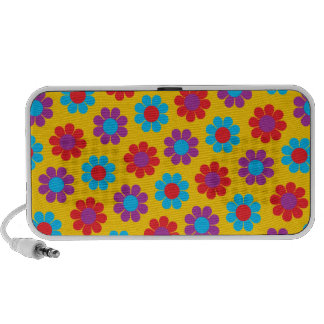 Customizable Flower Power Laptop Speakers