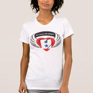 Customizable Flying Heart 2 Blue Stars Shirts